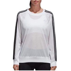 Adidas Essentials Mesh Crewneck Long Sleeve Top